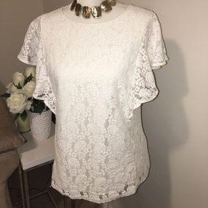 Merona lacy blouse size medium